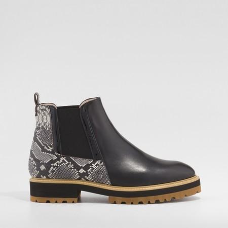 Botin Lake Sr Negro Zapatos Mujer Online