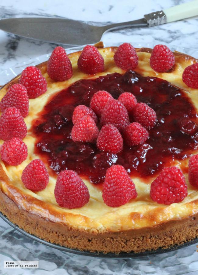 La Mejor Tarta De Queso Cheesecake Con Base De Galleta
