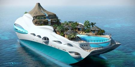 Los nuevos yates en forma de isla