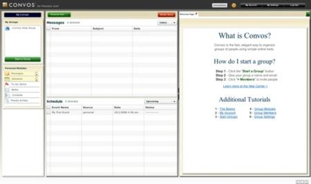 Convos, organización y gestión de grupos de usuarios