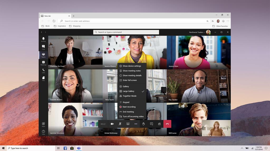 Microsoft Teams prepara una nueva vista de la galería optimizada para el uso en aparatos móviles