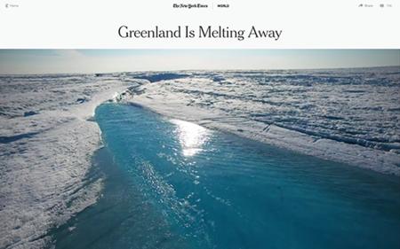 Greenland Is Melting Away Innovative Storytelling Twitter