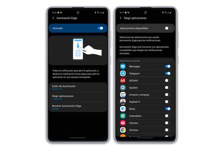Samsung Galaxy Note10 Lite Pantalla Iluminacion Edge