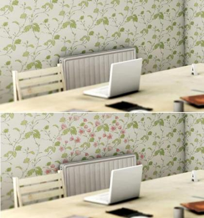 Heat-Sensitive Wallpaper: consigue que tus paredes florezcan con el calor