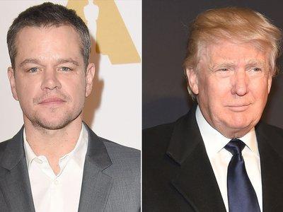 Matt Damon explica la ególatra razón por la que Donald Trump ha hecho tantos cameos