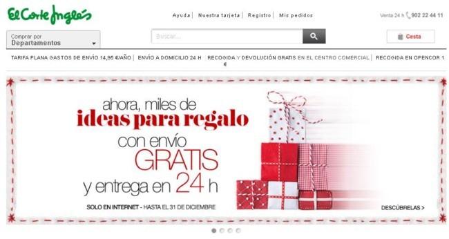 Envío gratis regalos en El Corte Inglés
