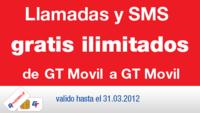 Llamadas y mensajes gratis entre clientes de GT Mobile por recargar