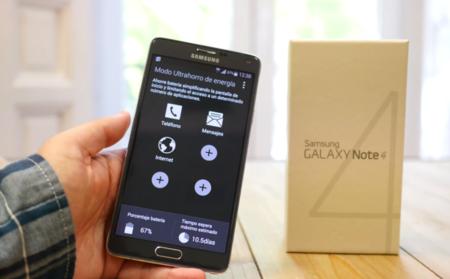 Samsung Galaxy Note 4 análisis modo ahorro energia