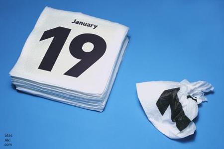 Servilletas calendario