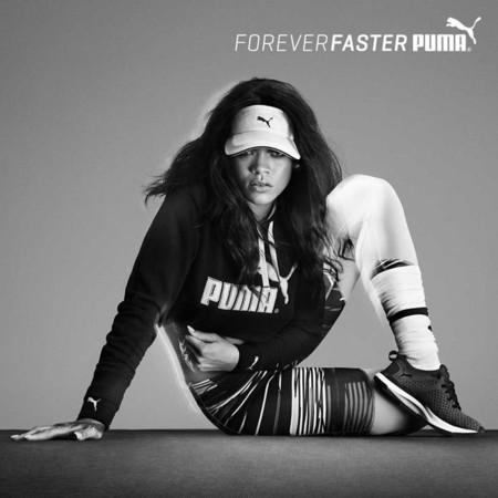 Del tacón a la deportiva, Rihanna sabe cómo modernizar a Puma