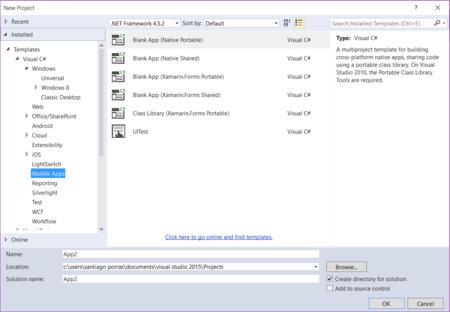 Creando Aplicaciones móviles con Visual Studio 2015