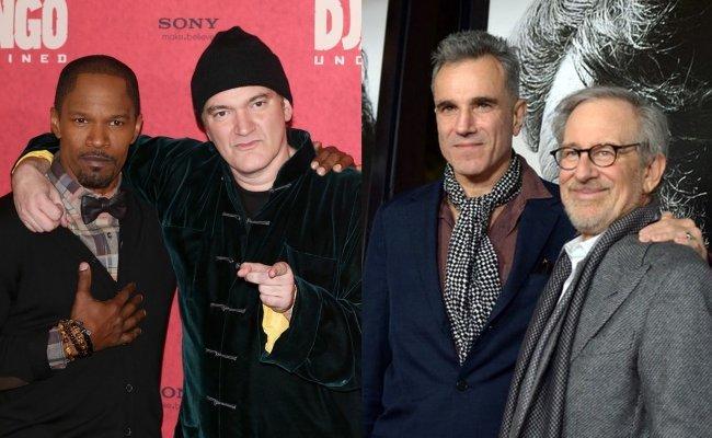 Jamie Foxx, Quentin Tarantino, Daniel Day-Lewis y Steven Spielberg