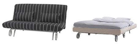 Sofá cama modelo Lovas de Ikea.