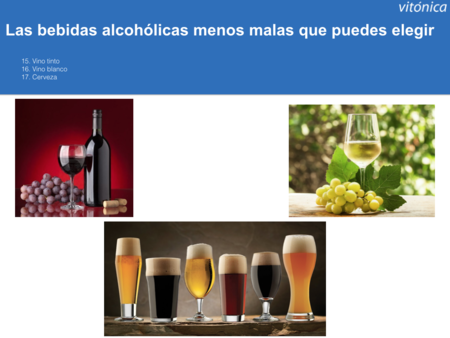 Bebidas Menos Perjudiciales