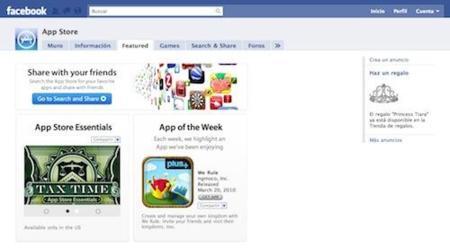Apple mejora la página de la App Store en Facebook