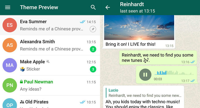 ¿Es Telegram o WhatsApp? Viste a tu Telegram de su enemigo con este tema