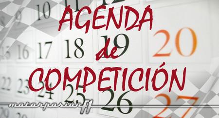 Agenda de competición, 31 de mayo al 2 de junio
