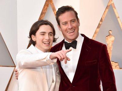 Los actores de 'Call me by your name' arrasan en la alfombra roja de los premios Oscar