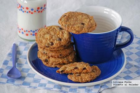 Cookies crujientes con copos de maíz y chips de chocolate. Receta