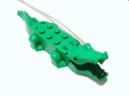 Colgante cocodrilo verde de LEGO