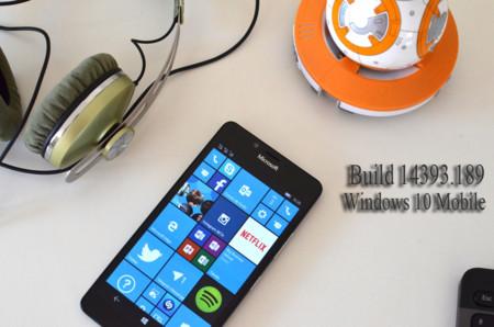 Microsoft lanza la Build 14393.189 móviles en Release Preview y en producción