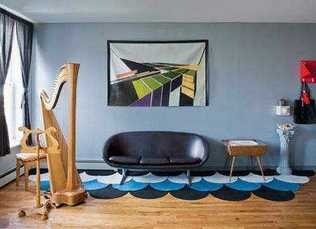 Crear olas con alfombras de Ikea
