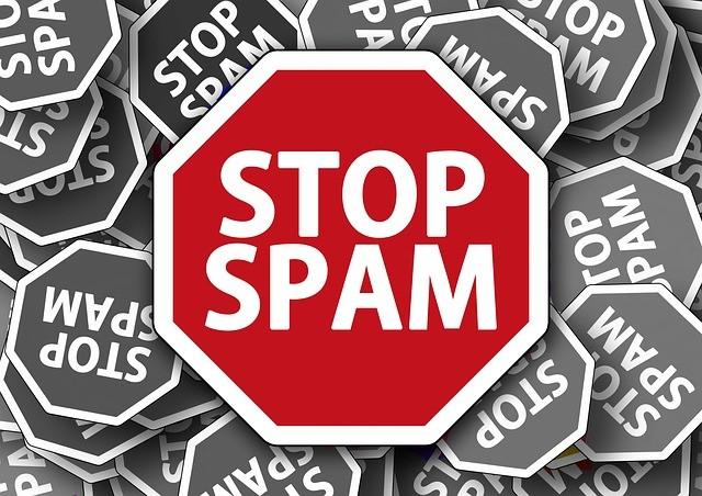 Señal de stop spam.
