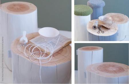 Estos muebles son un tronco (de pino)