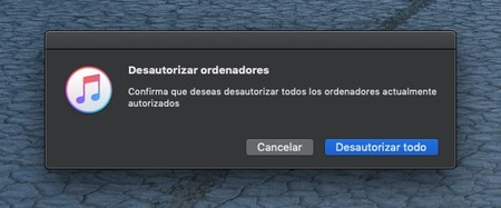 Itunes Desautorizar