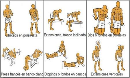 ejercicios de triceps: