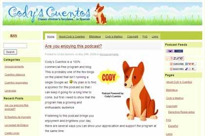 Cody's Cuentos, audiocuentos infantiles en Internet