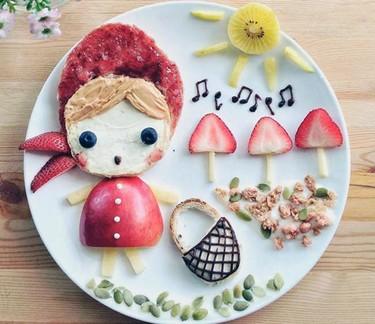 Preciosos platos decorados para hacer a vuestros peques: no se podrán resistir