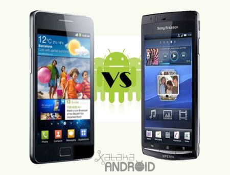 Comparativa: SonyEricsson Xperia Arc vs. Samsung Galaxy SII