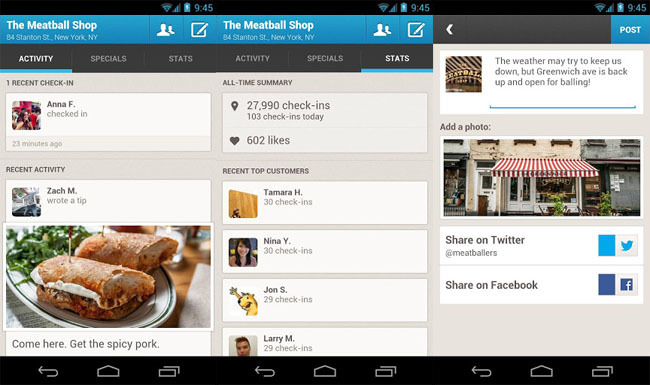 Foursquare for Business para Android