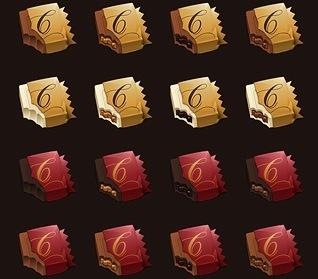 Estupendos iconos de chocolate para CandyBar
