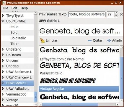 Visualizadores y organizadores de fuentes tipográficas en GNU/Linux