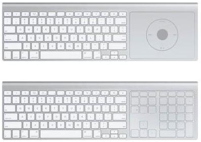 El hipotético teclado bluetooth del Apple TV