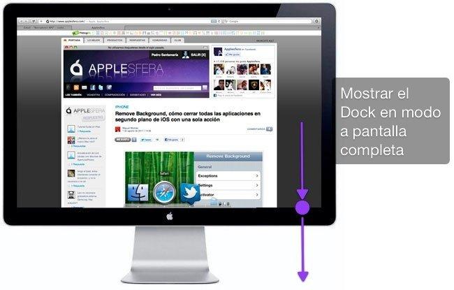 Mostrar Dock en modo pantalla completa OS X Lion