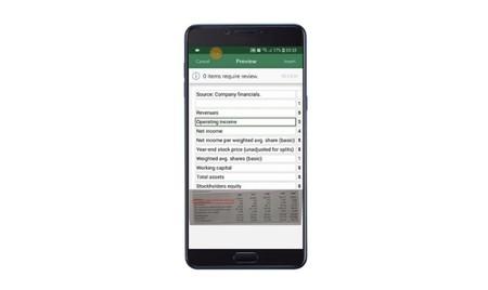 Microsoft Excel ya nos permitirá tomar la foto de una tabla e importarla para editarla, todo desde nuestro móvil Android o iOS