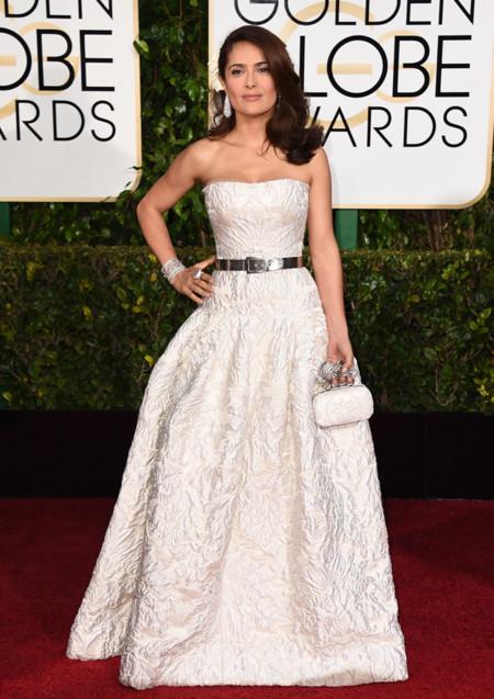 Salma Hayek Alexander McQueen Golden Globes