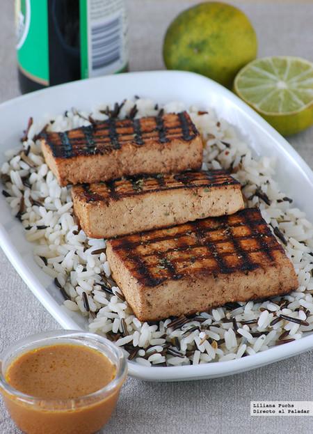 tofu hawaiano a la parrilla