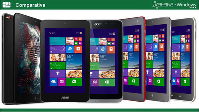 Comparativa: seis tablets de 8 pulgadas con Windows 8.1