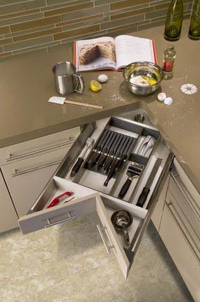 Aprovechando las esquinas de la cocina - Soluzioni salvaspazio cucina ...