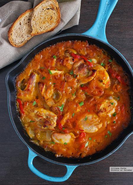 Pollo en salsa cremosa de calabaza receta de cocina f cil for Que cocinar con pollo