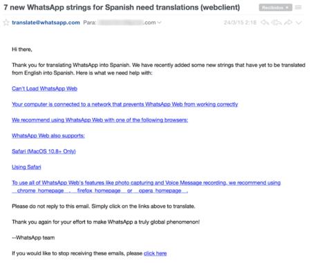 Whatsapp Web llega a Safari
