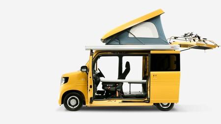 La adorable Honda N-Van Compo es una furgoneta camper que mide casi lo mismo que un Toyota Aygo