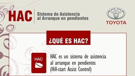Cómo funciona el sistema HAC de asistencia en pendientes. Infografía