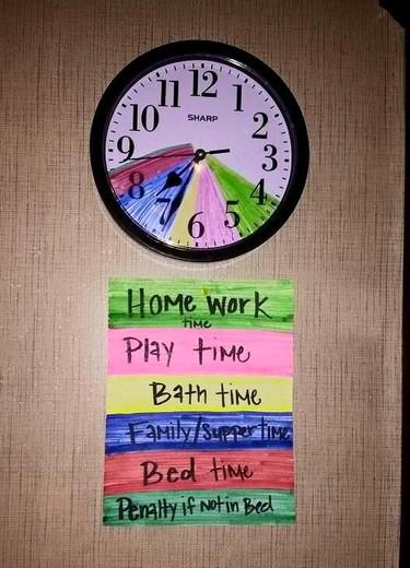 Una idea para fijar los horarios en casa: que sea el reloj el que  diga qué toca hacer