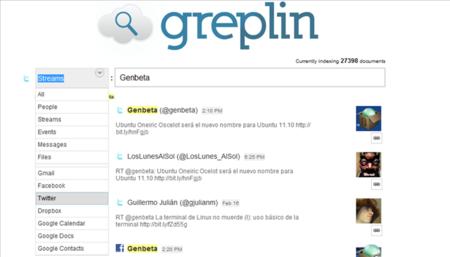 Greplin, un buscador para toda tu actividad en Internet