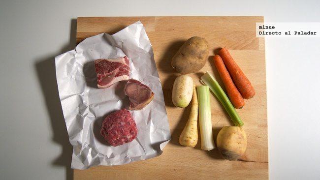 Cocido rápido, fácil y económico - ingredientes